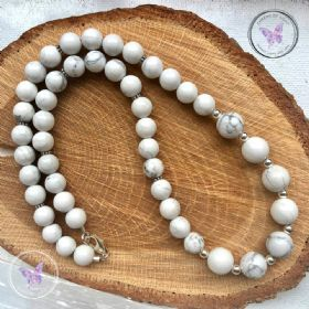 Howlite Bead Necklace